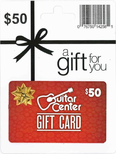 guitar center holiday gift card 50 arts entertainment party celebration giving cards certificates. Black Bedroom Furniture Sets. Home Design Ideas
