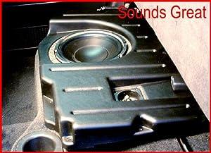 DODGE RAM QUAD CAB Q-Logic Custom Subwoofer Enclosure UNLOADED for 1-10-Inch Sub Q-Customs DQC110 -Passenger Side