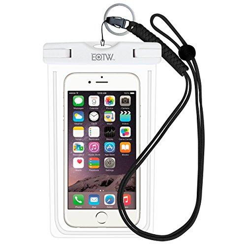 iPhone7/iPhone6s 防水ケース EOTW® 防水携帯ケース アウトドア ダイビング 温泉 釣り お風呂 水泳 砂浜 水遊び等に最適な防水袋、スマホケース・カバー 救助用ネックストラップ付属 防水国際保護等級:IPX8認定獲得 iPhone 7 Plus/6sPlus、Galaxy Note5/S7edge、Xperia Z5/Z4、Nexusなど、ほぼ全機種対応 スマートフォン用防水・防塵ケース (ホワイト)