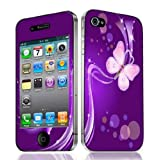 Xtra-Funky Exclusive Fashionable Protective Decal Skin Cover Style Sticker For Apple iPhone 4 & 4S (iPhone 4 - 4S, Pink Butterfly)by Xtra-Funky