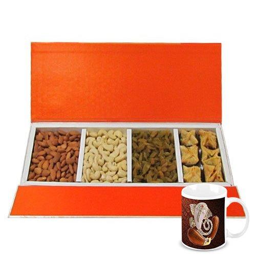 Chocholik Belgium Chocolates - Delightful Collection Of Almonds,cashew, Raisin And Baklava Gift Box - Diwali Gifts