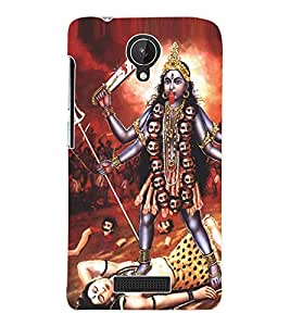 Fuson 3D Printed Lord Kali Designer Back Case Cover for Micromax Canvas Spark Q380 - D505