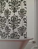 Renaissance Hookless Shower Curtain Black/White