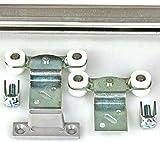 Mantion Schiebetürbeschlag MEDIUM B-200 cm flach und schmal für 1 Möbeltür