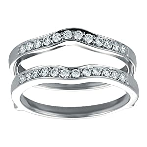 Wedding Ring Guard set in 10k White Gold (1.4 CT. Cubic Zirconia)