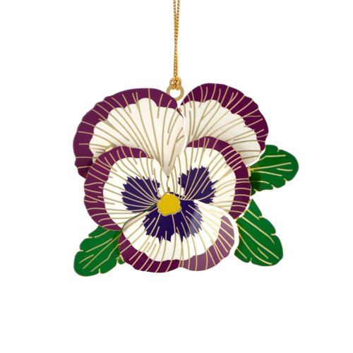 ChemArt Pansy Ornament