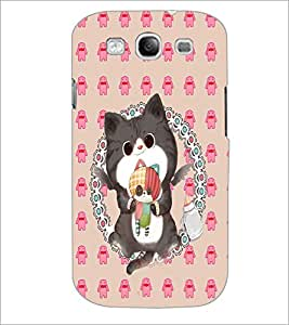 PrintDhaba Kitty D-4267 Back Case Cover for SAMSUNG GALAXY S3 (Multi-Coloured)