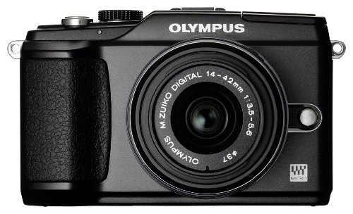Olympus E-PL2 Compact System Camera - Black (includes M.ZUIKO DIGITAL 14-42mm 1:3.5-5.6 II Black Lens)