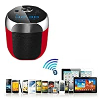 FEYE� Bluetooth Speakers with Digital clock  Built-in Mic  Support 3.5 mm Audio Jack for IOS and Android Smartphone- inbuilt rechargeable battery- high quality compact size- very small size and handy- compatible with all mobile phones  tables  laptop  computer and many more devices sony  Samsung  iphones  apple  micromax  iball  moto  one plus  mi  intex  hp  asus  lenevo  amazon  google nexsus-black