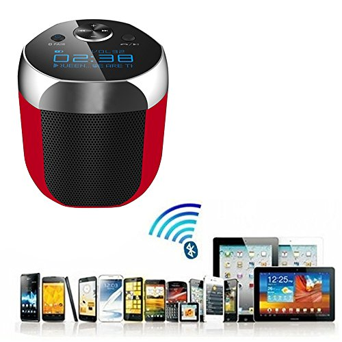 FEYE® Bluetooth Speakers with Digital clock, Built-in Mic, Support 3.5 mm Audio Jack for IOS and Android Smartphone- inbuilt rechargeable battery- high quality compact size- very small size and handy- compatible with all mobile phones, tables, laptop, computer and many more devices sony, Samsung, iphones, apple, micromax, iball, moto, one plus, mi, intex, hp, asus, lenevo, amazon, google nexsus-black