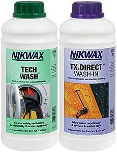Nikwax Tech Wash et TX Direct Wash In Duo nettoyant et imperméabilisant par trempage