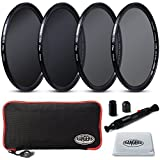 Rangers Focus Series 49mm Full ND Filters Includes Full ND2, ND4, ND8, ND16 Filters + Carrying Case + Lens Cleaning Cloth + Lens Cleaning Pen