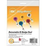 Swingline GBC Retractable Badge Reel, Translucent Primary Color Assortment, 5 Pack (37472)
