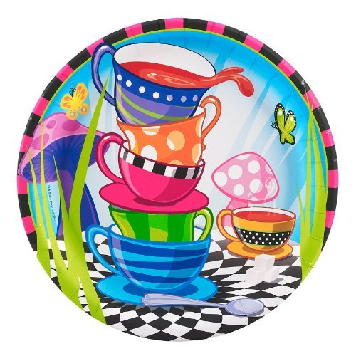 Topsy Turvy Tea Party Dinner Plates (8)