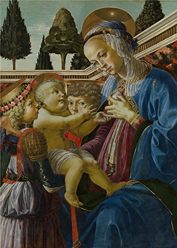 Oil Painting 'Andrea Del Verrocchio The Virgin And Child With Two Angels ' Printing On High Quality Polyster Canvas , 8 X 11 Inch / 20 X 29 Cm ,the Best Wall Art Gallery Art And Home Decoration And Gifts Is This Imitations Art DecorativePrints On Canvas (Job Ticket Holders 8 1 2 X 11 compare prices)