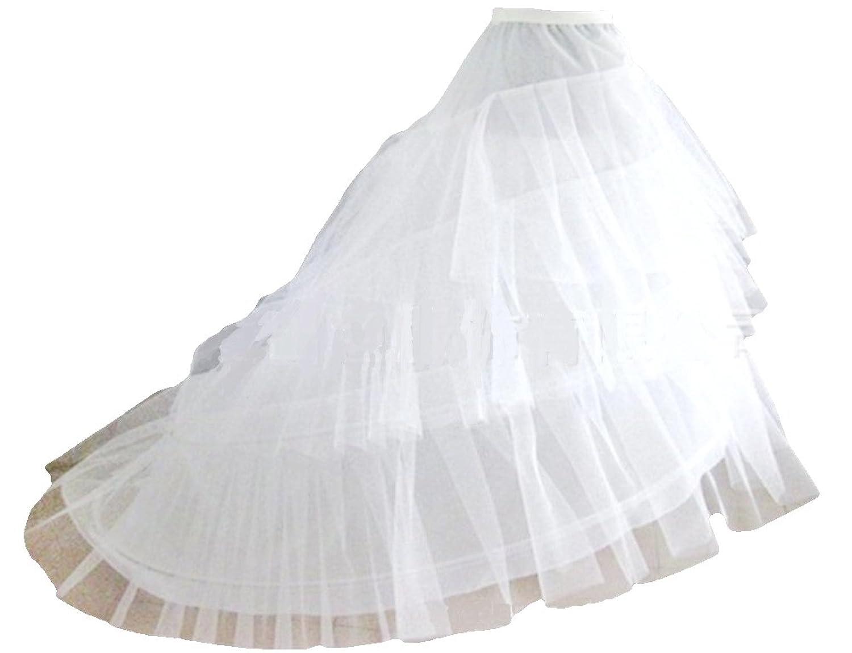 SwirlColor 3 Schichten Brautpetticoat Einstellbare Krinoline Petticoat / Unterrock für Wedding Dress