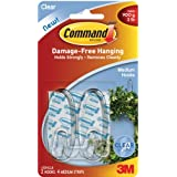 Command Clear Medium Hooks with Clear Strips (17091CLR)