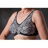 Nearly Me Soft Cup (no wire) Post-Mastectomy Bra -- Zebra #690