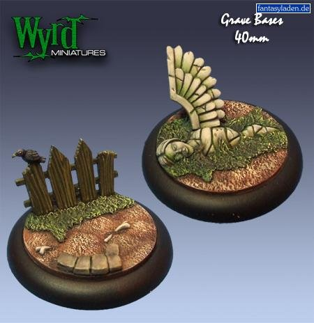 Malifaux: Base Inserts - Graveyard - 40mm (2) by Wyrd Miniatures