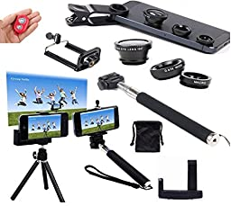 AFAITH® 7in1 Kit for Samsung Galaxy S5/S4/S3,iPhone 6 ,iPhone 6 Plus ,iPhone 5S/5C/5/4S ,Samsung Galaxy Note 3/2, LG ,HTC One M8/M7 ,Google Nexus 4/5 ,Sony Xperia ,Motorala One Plus One