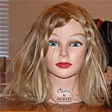 Mannequin Chantal 100% Virgin European Hair Light Brown Head Hair Manikin
