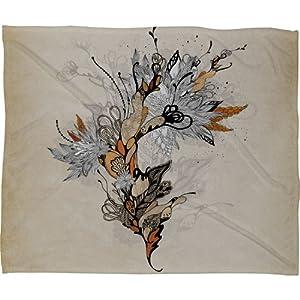 DENY Designs Iveta Abolina Floral 1 Fleece Throw Blanket