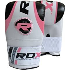 Buy RDX Gel Bag Mitts Ladies Boxing Gloves Grappling Punch MMA Ladies Pink Gym Kick by RDX