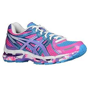ASICS Women's Gel-Kayano 19 Running Shoe (8 B(M) US, Flash Pink/Grape/white)