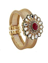 J S Imitation Jewellery Multicolor Gold-plated Kada Bangle For Women/girls