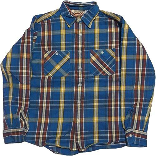(カムコ) ネルシャツ メンズ 長袖 ヘビーコットン フランネル ブルー CAMCO FLANNEL SHIRTS 012