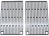 Music City Metals 61902 Gloss Cast Iron Cooking Grid Replacement for Select Gas Grill Models by Arkla, Charmglow and Others, Set of 2