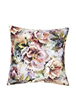 Casa di Bassi Cojín Con Relleno Extraíble Velvet Diji Roses (Multicolor)