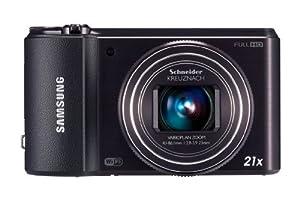 Samsung WB850F Smart-Digitalkamera (16 Megapixel, 21-fach opt. Zoom, 7,6 cm (3 Zoll) Display, Wifi) schwarz
