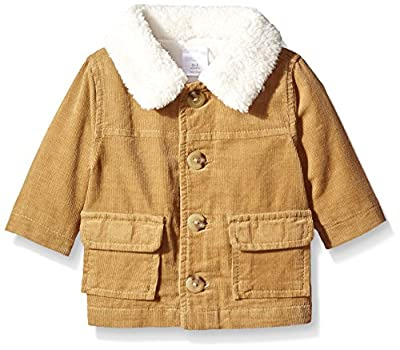Baby Boys Tan Sherpa Collar Cord Jacket from Gymboree