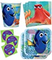 Disney Pixar Finding Dory Birthday Party Supplies Set Plates Napkins Cups Tableware Kit for 16 Plus Stickers