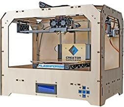 FlashForge USA 3D Printer with Dual Extruder, Wood Case (Creator)