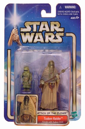 Star Wars Attack of the Clones - Tusken Raider Female and Child Action Figure