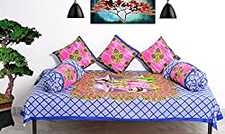 RajasthaniKart Traditional Premium Quality 6 Piece Diwan-e-khas - 100%Cotton