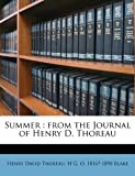 Summer: from the Journal of Henry D. Thoreau