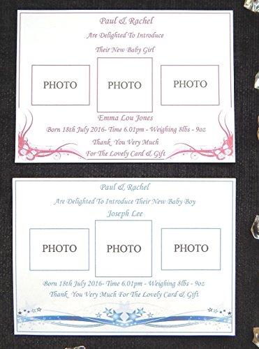 25-32-40-oder-50-x-personalisierte-geburt-von-baby-oder-baby-mitteilungs-karten-entwurf-c-mit-fotogr