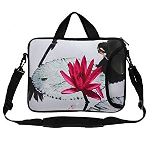 Water Lily Pattern Shoulder Bag Sleeve Case Cover for 1313.3Laptop