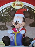 Disney Christmas Mickey Mouse Ornament LED Airblown Inflatable by Gemmy image