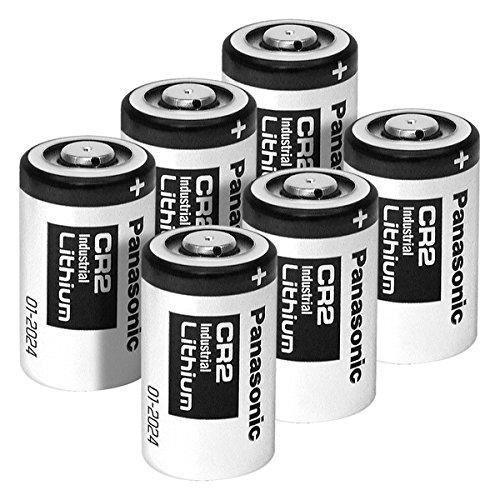 Panasonic CR2 Photo Lithium 3V Batteries 6 Pack for Mini 25 Mini 50 Mini 50S Mini 55 Pivi MP-100 & SP-1- Silver (Panasonic Cr2 Lithium 3v Battery compare prices)