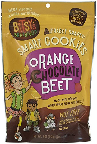 Bitsy's Brainfood Smart Cookies - Orange Chocolate Beet - 5 oz - 6 Pack (Bitsy Brain Food compare prices)
