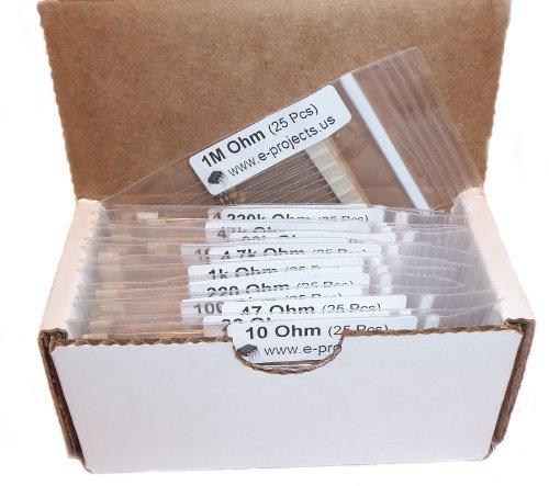 E-Projects - 400 Piece, 16 Value Resistor Kit (10 Ohm - 1M Ohm)