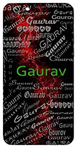Gaurav (Honor, Respect, Pride) Name & Sign Printed All over customize & Personalized!! Protective back cover for your Smart Phone : Moto G3 ( 3rd Gen )