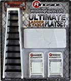 ULTIMATE LADDER & TABLE PLAYSET (WHITE) - RINGSIDE COLLECTIBLES EXCLUSIVE WWE TOY WRESTLING ACTION FIGURE ACCESSORY PACK