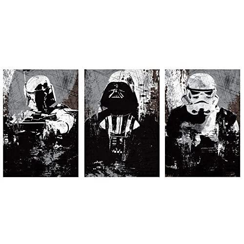 OHMYPOSTER Star Wars All Black Vintage Set Of 3 Posters