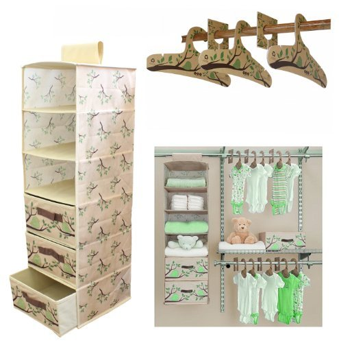 DELTA Eco Nursery Closet Set 20-Pieces - Green