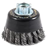 Forney 72855 Wire Cup Brush 3-Inch-by-.012-Inch Industrial Pro Coarse Crimped with M10-by-1.50//1.25 Multi Arbor